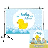 Allenjoy 7x5ft Little Yellow Duck Baby Shower Photography Backdrop Child Bubble Background for Party Photo Studio Prop