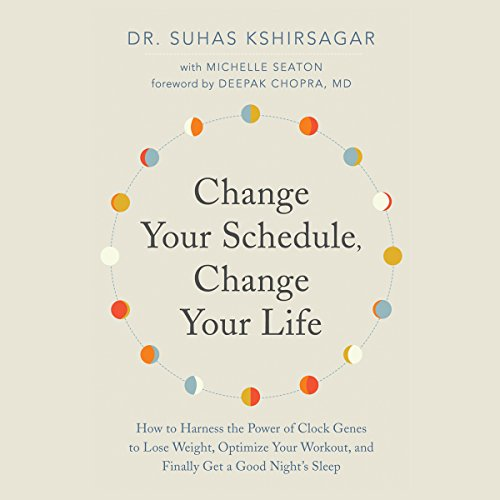 Change Your Schedule, Change Your Life     How to Harness the Power of Clock Genes to Lose Weight, Optimize Your Workout, and Finally Get a ...              De :                                                                                                                                 Dr. Suhas Kshirsagar,                                                                                        Michelle Seaton,                                                                                        Deepak Chopra - foreword                               Lu par :                                                                                                                                 Lesa Lockford                      Durée : 8 h et 8 min     Pas de notations     Global 0,0
