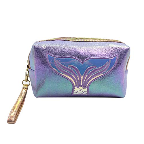 Holographic Cosmetic Bag Travel Toiletry Organizer Mermaid Storage Purse Makeup Carrying Case