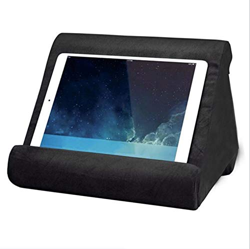 Soporte de cojín para Tablet multiángulos-Soportes universales para teléfonos y tabletas-Multiusos-Soporte de Libros-cojín de Soporte para Dispositivos electrónicos-Color Negro