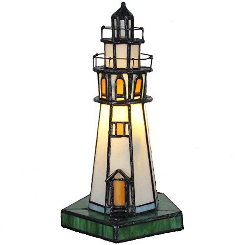 Lighthouse Tiffany-style Table Lamp