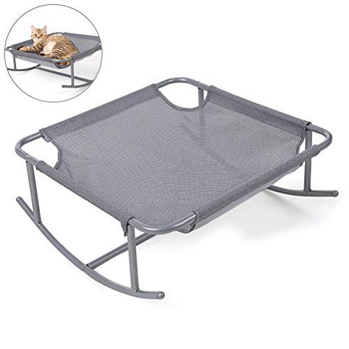Weesey schommelstoel voor kleine huisdier, ademend meshbed, stalen poten