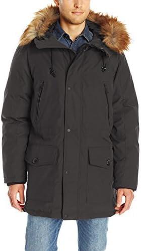GUESS Men's Long Parka with Removable Fur