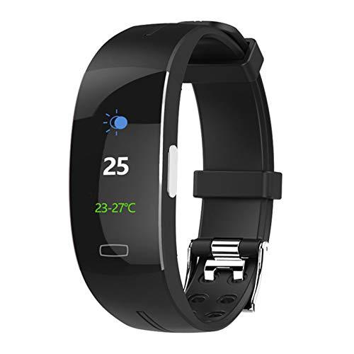 ZGNB P3 Plus Bluetooth Smart Watch PPG + ECG Monitor de Ritmo cardíaco preciso Monitor de la presión Arterial Monitor de la presión del Tiempo Pulsera para Android iOS,C