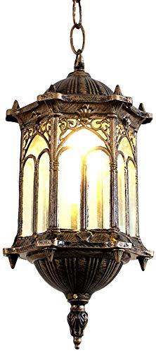 YLBZJ Impermeable al Aire Libre antioxidante lámpara Retro balcón Escalera lámpara Pasillo Corredor Porche cenador araña de jardín Paisaje Accesorios Sencillos de iluminación de Techo Exterior,Copper