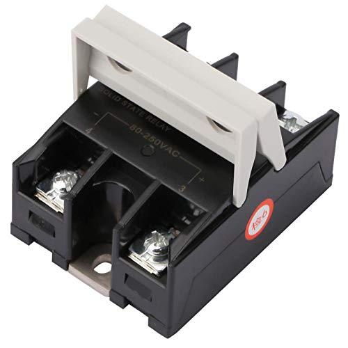 Relé de estado sólido, relé de estado sólido de 60 A, semáforos sin chispa para fotocopiadoras Luces de señal de computadora(BRM-60AA)