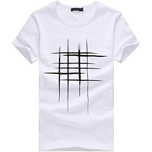 Lurcardo Herren T-Shirt - Männer Herren Sommer Kurzarm Tops Rundhals T Shirt Tee Hemd Casual Muscle Basic Drucken Baumwolle Shirt Slim Fit T-Shirt Tanktops Tank Top Tops T-Shirts Hemden für Herren