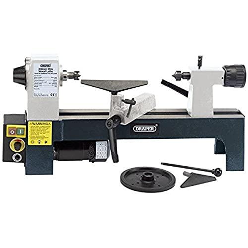 Draper 60988250W 230V Velocidad variable Mini madera torno