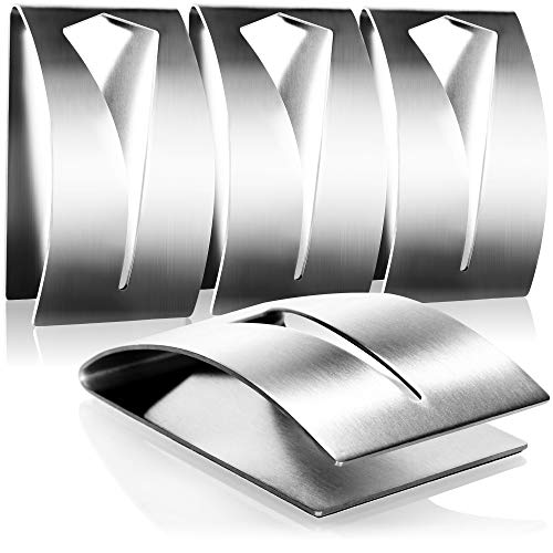 com-four® 4X Handtuchhaken selbstklebend - Handtuchhalter aus rostfreiem Edelstahl - Kleiderhaken Badezimmer ohne Bohren (04 Stück)