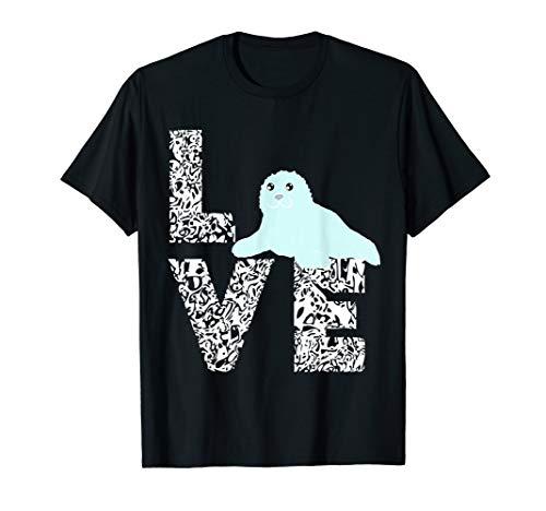Seelöwe Robbe Love Seehund Ozean Seerobben Baby Tier T-Shirt