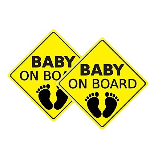 FAMKIT Calcomanías de coche para bebé a bordo, pegatinas de coche, autoadhesivas, fáciles de instalar, resistentes al...