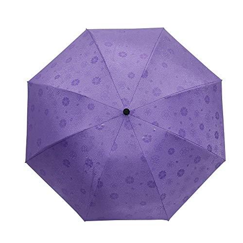 FAGavin Paraguas Plegable Paraguas Autorretrato Agua Encuentro Paraguas De Golf Paraguas De Golf Paraguas Plegable Anti-Ultravioleta Púrpura