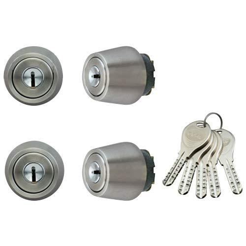 LIXIL(リクシル) TOSTEM ドア錠セット(GOAL V18シリンダー) ヘアライン DCZZ1411