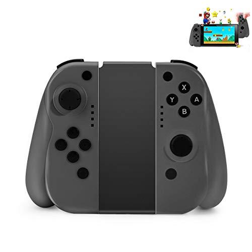 Controlador inalámbrico Powcan para Nintendo Switch Mini Switch Controlador (L/R) Joypad Gamepad Joystick Joystick Compatible con Switch - Rojo (R) y Azul (L), Soporte Conexión por cable (gris)