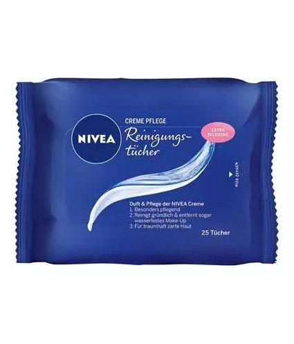 Nivea Creme Pflege Gesichts-Reinigungstücher, 6er Pack (6 x 25 Stück)