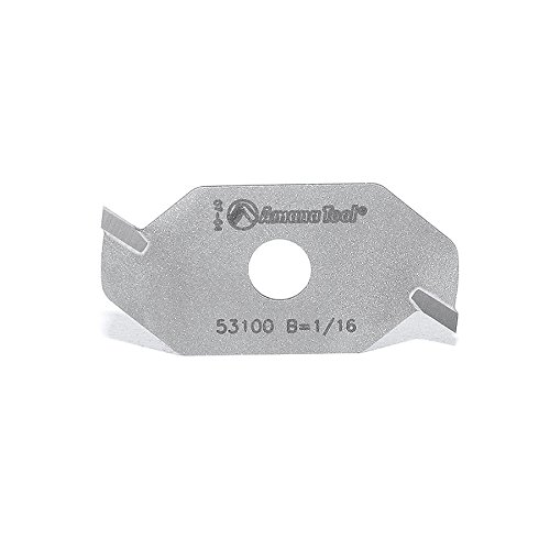 Amana Tool 53100 Slotting Cutter 2 Wing x 1-7/8 D x 1/16 CH x 5/16 Inner D