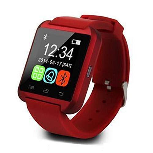 Wsaman Impermeable IP67 Smartwatch Pulsera Rastreador de Actividad Fitness Tracker Pantalla Color Táctil Pulsera Inteligente, con Monitor de Sueño para Android/iOS/Hombre/Mujer,Rojo