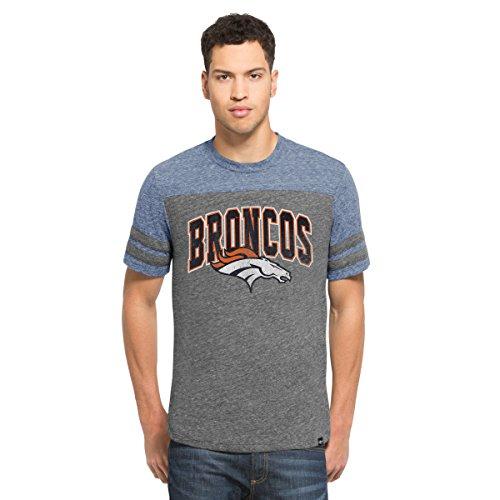 '47 NFL Herren Fußball-T-Shirt Neps, Vintage Grey, Large