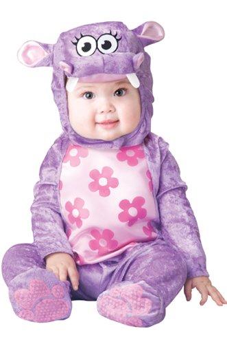 InCharacter Huggable Hippo Infant/Toddler Costume, Small (6-12) Purple