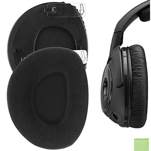 Geekria Almohadillas de repuesto para auriculares RS160, HDR160, RS170, HDR170, HDR170, almohadillas para orejas, cubiertas de oreja, piezas de reparación (anillo de terciopelo/plástico)