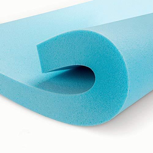 Genniyz 3/4 Inch Mattress Topper Gel Memory Foam Mattress Pad Queen Size Bed Topper (80' X60'') (3''-Twin)