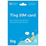 Ting Mobile SIM Card Kit for Unlocked Phones - No Contracts, No Prepayment, LTE Nationwide Coverage, Only Pay for What You use.