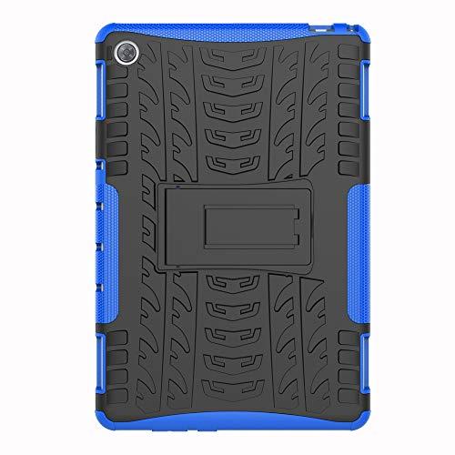 SHIEID Hülle für Huawei MediaPad M5 Lite (10 Inch)-Hülle Tough Hybrid Armor Hülle,Diese Handyhülle Anti-Wrestling Travel Essential Faltbare Halterung für Huawei MediaPad M5 Lite (10 Inch)(Blau)