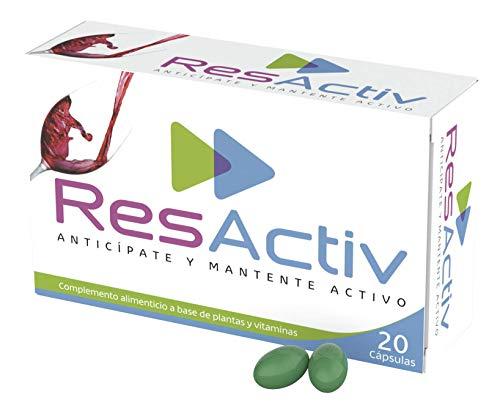 ResActiv - 20 cápsulas - Complemento Alimenticio Natural | Previene los Síntomas de la Resaca | Protector de Hígado | Contiene Antioxidantes y Cardo Mariano | ANTICÍPATE Y MANTENTE ACTIVO