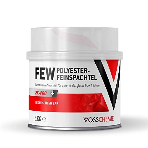 Vosschemie FEW Feinspachtel 1.000g - 2K Polyesterspachtel für die professionelle Anwendung im DIY und Handwerk