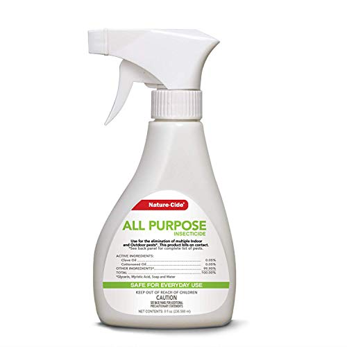 Nature-Cide All Purpose Insecticide. All Natural Roach Killer, Spider, Mosquito and Ant Spray to Keep Your Home Safe. Kills on Contact. No Strong Odor. 8 oz