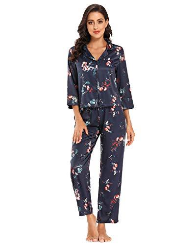 GOSO Pijama de Mujer con Botones y...