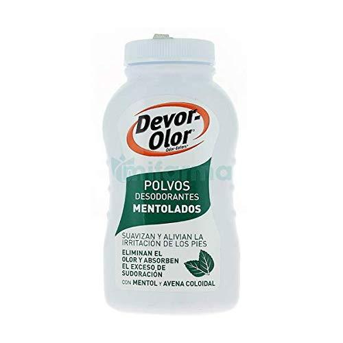 Devor Olor Polvos Desodorantes de Pies Mentolados 1 Unidad 100 g