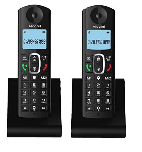 2 Telefoni Cordless Duo Twin con Call Bocker per Bloccare Chiamate Indesiderate. 2 Modalità blocco (Manuale Programmabile Automatica Intelligente). Tasto Call Block aggiungi Chiamante a Black List