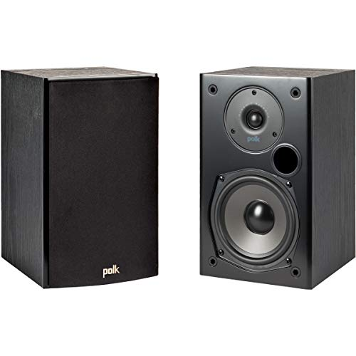 Polk Audio T15 100 Watt Home Theater Bookshelf Speakers – Hi-Res Audio with Deep Bass Response |...