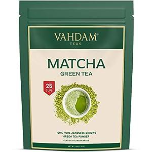 VAHDAM, Thé Vert Matcha  Poudre de thé matcha   100% PURE, Orig. Japonaise   137x ANTIOXYDANTS   Stimule l'Energie, la Concentration & le Métabolisme   Perte de Poids & Detox