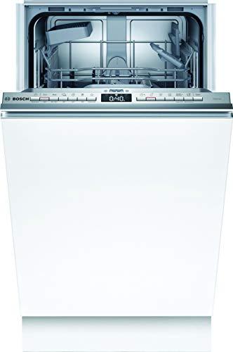 Lavavajillas Bosch SPV4HKX53E Serie 4, totalmente integrado, E, 45 cm, 70 kWh 100 ciclos, 9 MGD, SuperSilence, InfoLight, secado extra, cesta para cubiertos Vario, Home Connect