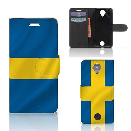 B2Ctelecom Kartenfach Tasche für Acer Liquid Z330 Handyhüllen Schwedische Flagge