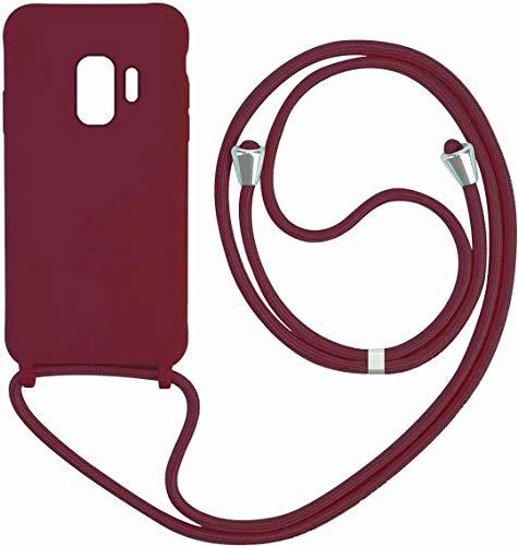 Kompatibel mit Samsung Galaxy S9 Silikon TPU Handy-Kette Handyhülle mit Band Handy Hülle mit Kordel zum Umhängen.