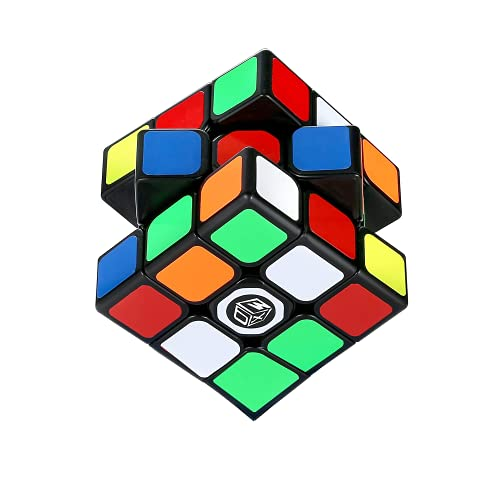 XMD 魔方 3x3x3 競技用キューブ Magic Cube 立体パズル 【6面完成攻略書+スタンド付き】 世界基準配色 ver4.0 ポップ防止 脳トレ 知育玩具 対象年齢6歳以上