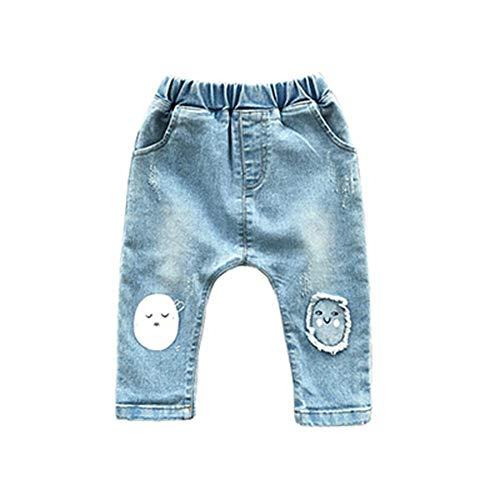 Akdyh broek voor dames, lang, voor baby's, jongens, elastische taille, katoen, baby, jeans, volledige lengte, broek voor pasgeborenen, cartoon, lente broek