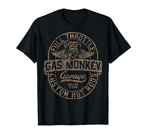 Gas Monkey Garage Custom Hot Rods Distressed Oval Logo T-Shirt