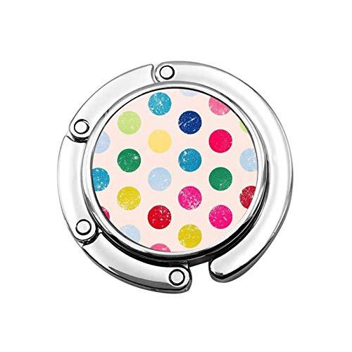 Gancho para Monedero Círculos de Colores Soporte para Monedero Plegable Gancho para...
