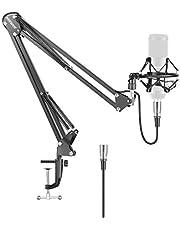Neewer Soporte del Brazo Tijera Micrófono Mic Suspensión Auge con Montaje de Choque y XLR Cable de Audio (Macho y Hembra)