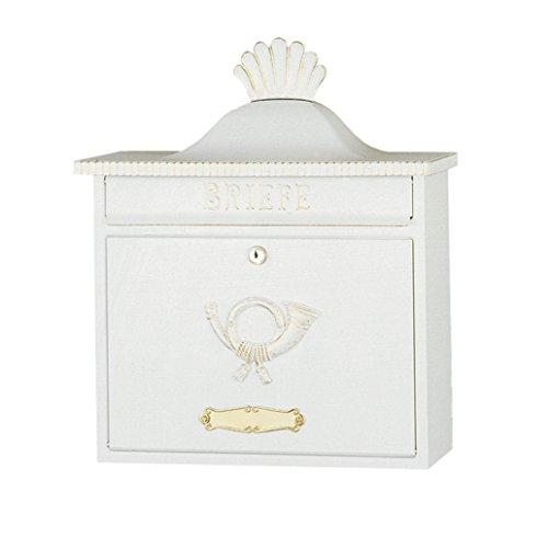 Heibi Briefkasten TRAKO im Landhausstil, weiß-gold