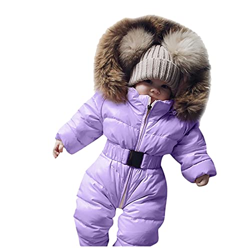 Infant Toddler Baby Girls Boys Winter Down Snowsuits Romper Jacket Hooded Jumpsuit Warm Thick Coat Outfit