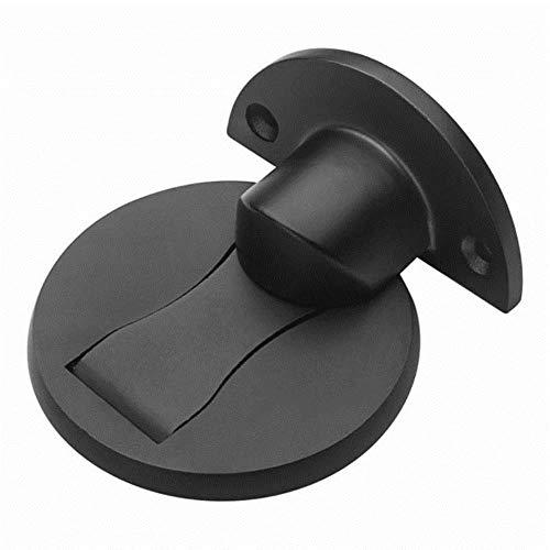Yener Magnetische deurstopper Non-punch deurhouder Verborgen deurstopper Meubeldeur Hardware 304 roestvrijstalen magneetdeurstopper, zwart