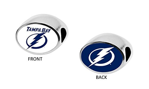 Tampa Bay Lightning 2-Sided Bead Fits Compatible With Pandora Style Bracelets