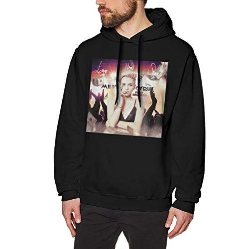 Hombre Sudaderas con Capucha, Sudaderas, Miley Cyrus Fashion Men's Hoodie Black