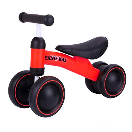CCDYLQ Baby Balance Bikes 10-36 Month Children Walker, Toys for 1 Year Old Boys Girls, No Pedal Infant 4 Wheels Toddler Bicycle,Best First Birthday New Year Indoor Outdoor,B