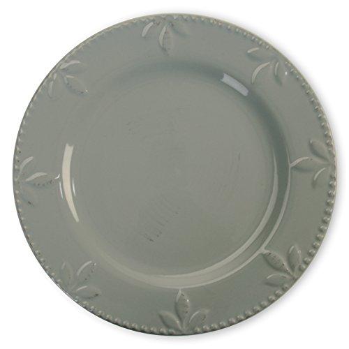 Signature Housewares Sorrento Collection Dinner Plates, Set of 4, 11', Light Gray